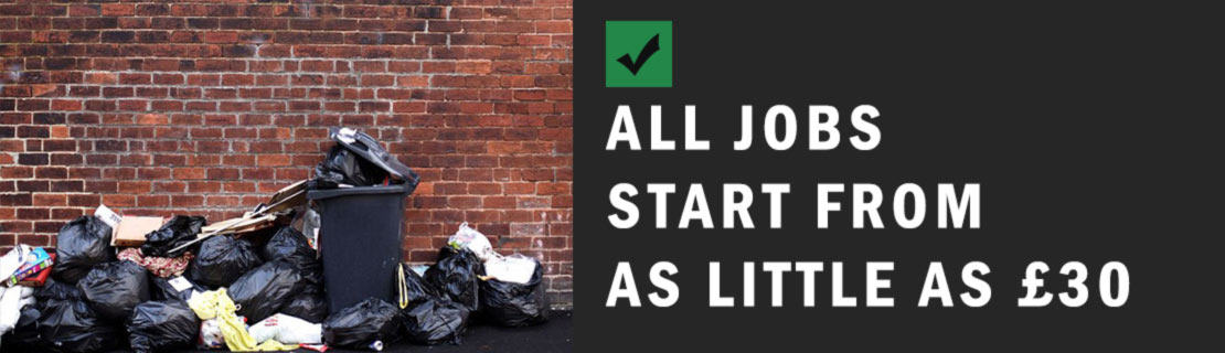 all jobs starting from as little as 30 pounds